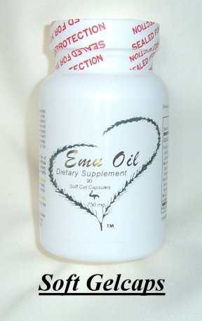 Emu oil soft gelcaps contain Omega 3, 6, and 9 essential fatty acids!
